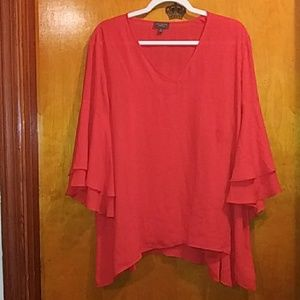 The Limited Red Bell Sleeve Blouse Size XL